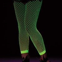 Green Fishnet Stockings