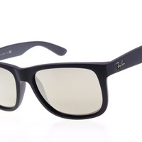 Cheap Ray-Ban Justin Sunglasses RB4165 622/5A Black Frame W/ Gold Mirror Lens outlet