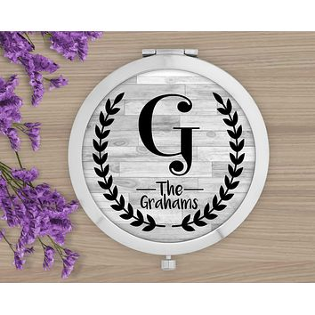 Personalized Compacts | Custom Compacts | Makeup & Cosmetics | Faux Wood