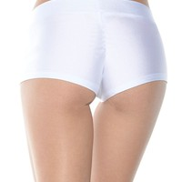 Solid Rave Booty Shorts (X-Large, White)
