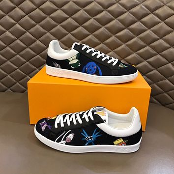LV Louis Vuitton Men's 2021 NEW ARRIVALS Luxembourg Low Top Sneakers Shoes
