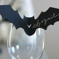Bat Place Cards by TimelessPaper on Etsy