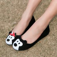 Summer Cartoons Leather Round-toe Flat Casual Shoes [4920607876]