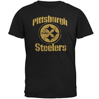 Pittsburgh Steelers - Distressed Logo Soft T-Shirt