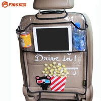 Thicken Environmental PVC Cover Car Back Seat Protector Kicking Mat For Kids Child Seats - With Organizer For Ipad and Drink