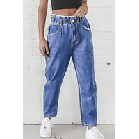 Dad Jokes Paper Bag Denim Pants