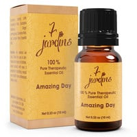 7 Jardins Amazing Day Energy Boost Synergy Blend Essential Oil 100% Pure & Natural Therapeutic Grade- No Dilution - No Fillers - Energizes And Uplifts