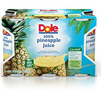 Dole Pineapple Juice, 6 Ounce (Pack of 48)