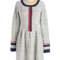 ModCloth Mid-length Long Sleeve Sweater Dress Chilly Commute Dress