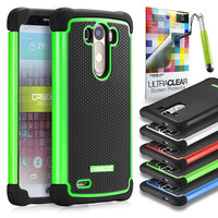 Defender 9933 dual layer back cover, LG G3, Green