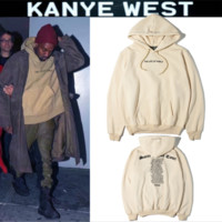 Couples with hoodies men and women sand color sweater plus cashmere jacket