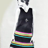 Crochet Two Piece Skirt and Top Vintage Pattern | Los Angeles Needlework