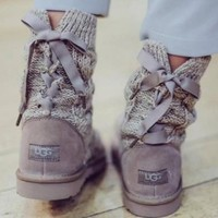 Ugg Female Fashion Wool Snow Boots Wool Shoes-9
