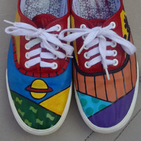 Rugrats hand painted shoes