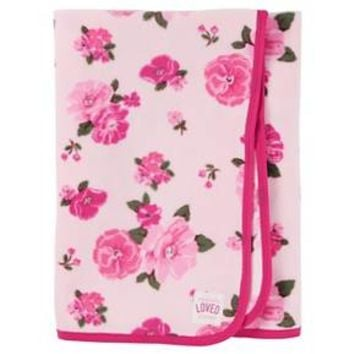 Baby Girls' Pink Floral Fleece Blanket - Just One You™Made by Carter's®
