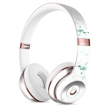 White and Green Marble Surface Full-Body Skin Kit for the Beats by Dre Solo 3 Wireless Headphones