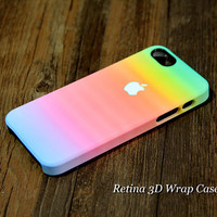 Rainbow Abstract 3D-Wrap iPhone 5S Case iPhone 5 Case iPhone 5C Case iPhone 4S Case iPhone 4 Case
