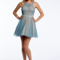 Two Tone Lace and Glitter Dress