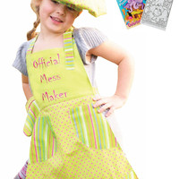 Manual Woodworkers Official Mess Maker Apron, Oven Mitt, Chef Hat with Activity Book