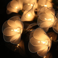 20 White Tone Fairy Flower String Lights  Wedding Party Floral Home Decoration