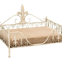 Metal Pet Bed with Contemporary Elegant Curves and Fine Detailing
