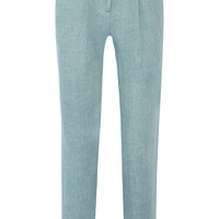 Adam Lippes - Cotton-twill tapered pants