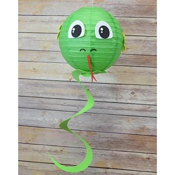 "8"" Paper Lantern Animal Face DIY Kit - Snake (Kid Craft Project)"