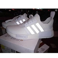 ADIDAS trendy fashion couple pure white casual sneakers