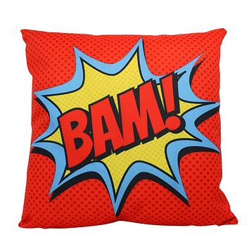 BAM   Red    Anime   Fun Gifts   Pillow Cover   Home Decor   Throw Pillows   Happy Birthday   Kids Room   Bedroom Decor   Room Decor