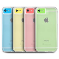 GreatShield Radiant Series Ultra Slim Fit Case for Apple iPhone 5C (Clear & White)