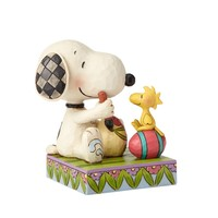 """Snoopy & Woodstock Easter Eggs """"A Colorful Tradition"""" Figurine"""