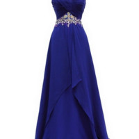 KC131529 Blue A-Line Prom Pageant Dress by Kari Chang Couture
