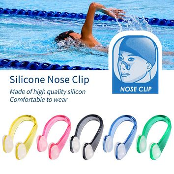 1 Pcs Swimming Nose Clips Set Soft Silicone Swimmer Unisex Nose Clip Earbuds Set Small Size FOR Adult Children Sports Pool Tools