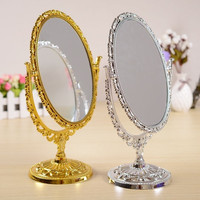 Oval Double-Sided Normal Stand Mirror Makeup Mirror = 1705245124