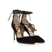 Dayna Suede Lace-Up Pump