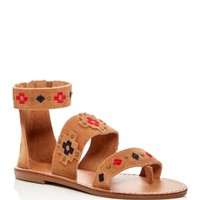 Soludos Embroidered Strappy Sandals | Bloomingdales's