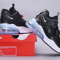 HCXX 19July 504 NIKE Air Force 270 AH6772-001 buckle strap rubber outsole Leather Fashion Sports Running Shoes