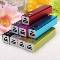 8 Colors Cell Phone USB 2600mAh Power Bank 18650 Battery Charger DIY Kit for iPhone 5s 6 (NO Battery) = 1946192132