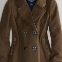 AEO Women's Double-breasted Peacoat