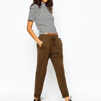 People Tree Jersey Trousers With Drawstring