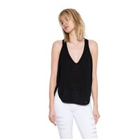 Womens Black Orion Pullover Sleeveless Top By One Grey Day