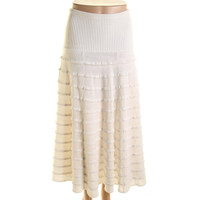 Catherine Malandrino Womens Knit Tiered A-Line Skirt