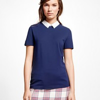 Short-Sleeve Cotton Pique Knit - Brooks Brothers