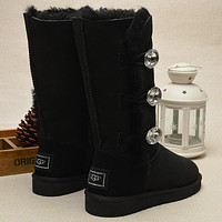 mieniwe? UGG Fashion Women Fur Wool Snow Boots In Tube Boots Shoes