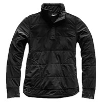 Women's 1/4 Snap Mountain Sweatshirt in TNF Black by The North Face