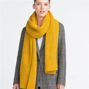 Winter Warm Knitted Scarf (220*40CM) [9572852815]