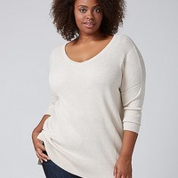 Double V Tunic Sweater | Lane Bryant