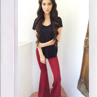 Harmony Bell Bottoms- Red