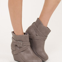 Booty-licious Wedge Ankle Boots
