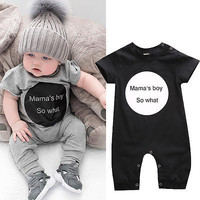 2016 New Todders Infant Baby Girl Boy Bodysuit Jumpsuit Playsuit Outfits Clothes